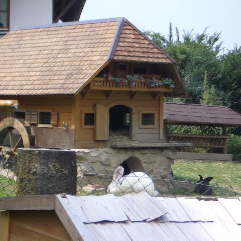Schwarzwaldhaus für Stallhasen im Glottertal