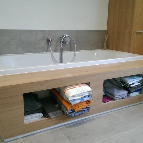 Holzverkleidung Badewanne