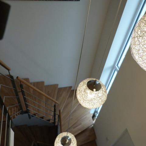 Treppenstufen in Eiche Leimholz geölt